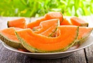 Rockmelons contains potassium which is good for your ears.