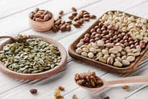 Seeds and nuts contain zinc
