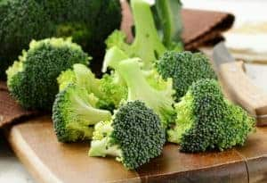 Broccoli is a vegetable high in Folate