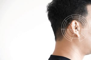 Directional microphones on hearing aids.
